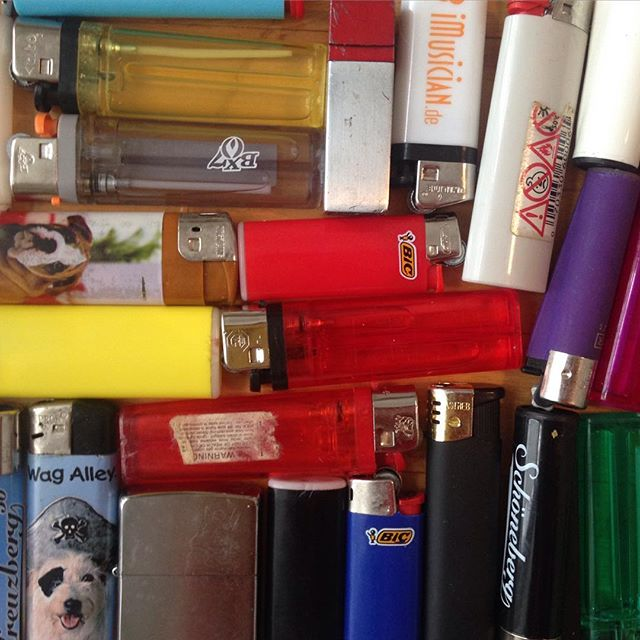 Wonder where your lighter is? Maybe I have it! Just emptied my pockets #thelighterthief