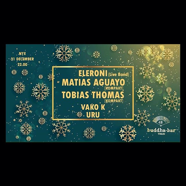 I am very happy to be in Tbilisi tomorrow at Buddha Bar with Tobias Thomas where we finally celebrate the last evening of 2016 - and cordially welcome 2017! 🍾🍾🍾
